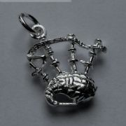 Sterling Silver Small Bag pipes Charm